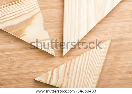 Background with cut piece wood