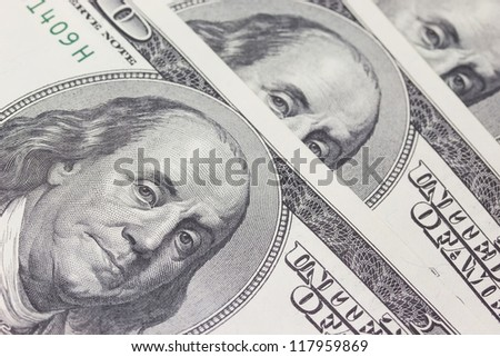 Background with detailed view of money US dollar bills