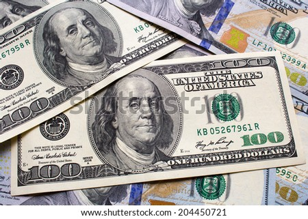 background with dollar - stock photo