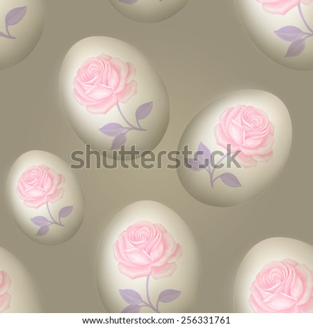 Background with Easter Eggs. Seamless - stock photo