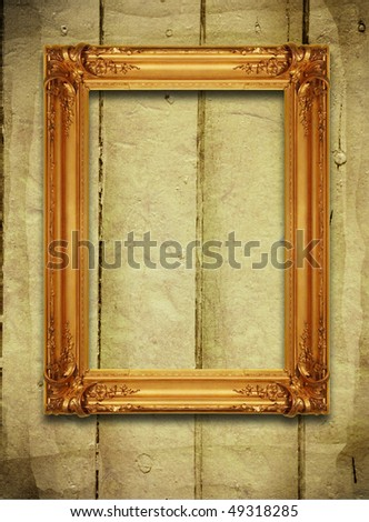 background with empty frame - stock photo