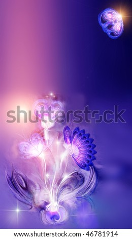 Background with fantastic bouquet. An enough place is for your inscriptions.