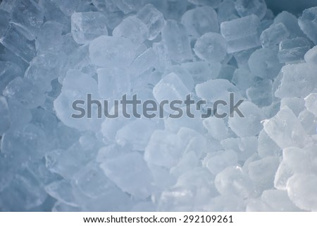 background with fresh cold ice - stock photo