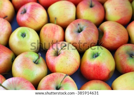 Background with fresh delicious colorful juicy apples