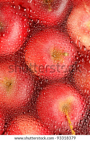 background with fresh red apples - stock photo