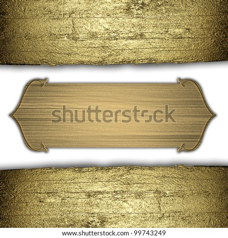 background with gold texture stripe layout