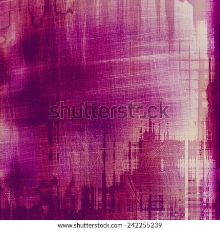 Background with grunge stains. With different color patterns: purple (violet); pink; red (orange) - stock photo