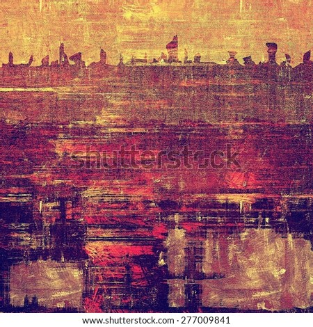 Background with grunge stains. With different color patterns: yellow (beige); brown; purple (violet); pink - stock photo