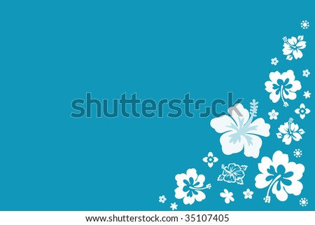 background with Hawaiian flower Pattern - stock photo
