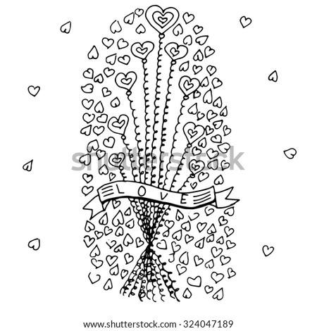 Background with hearts. Festive background for Mother`s day, Woman`s Day or Valentine`s day. Raster version - stock photo