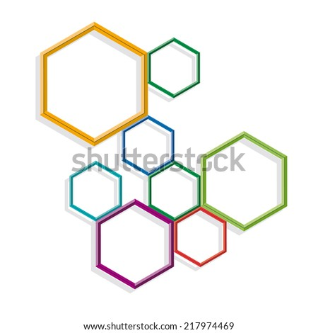 background with hexagons - stock photo