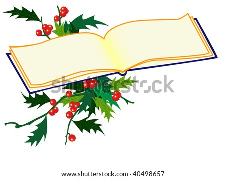 background with holy sprigs and book