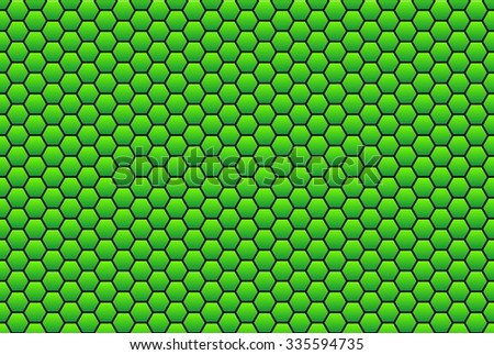Background with Honeycomb structure green and black - stock photo
