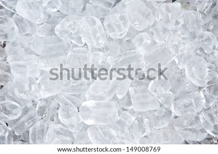 background with ice cubes  - stock photo