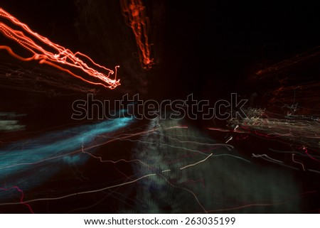 background with lights - stock photo