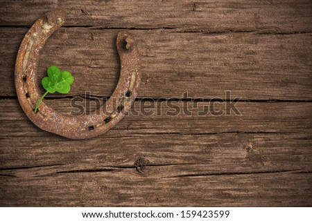 Background with lucky charms - stock photo