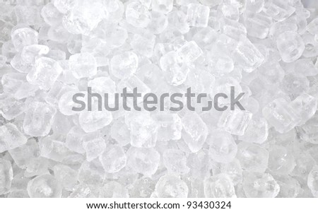background with many ice cubes - stock photo