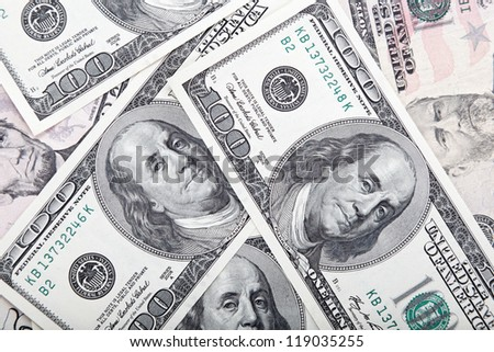 Background with money american dollars bills. - stock photo