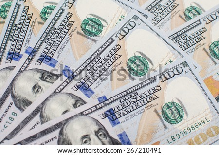 Background with money american hundred dollar - stock photo