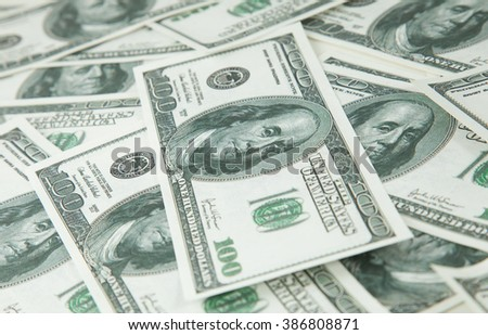 Background with money american hundred dollar bills 2