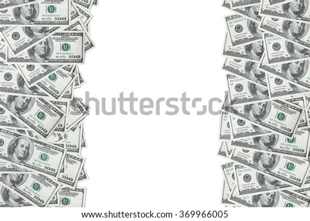 Background with money american hundred dollar bills. With place for text.