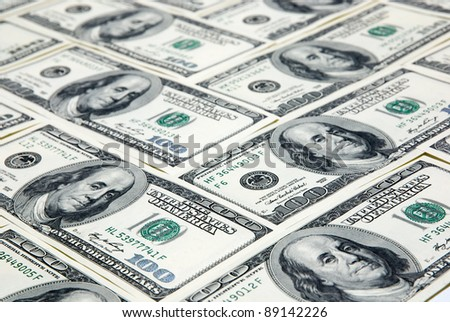 Background with money, american hundred dollar bonds
