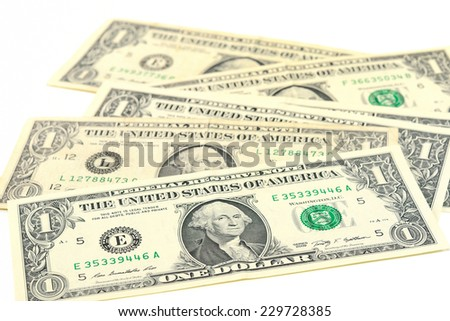 Background with money american one dollar bills
