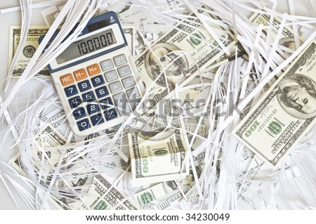 background with money and calculator