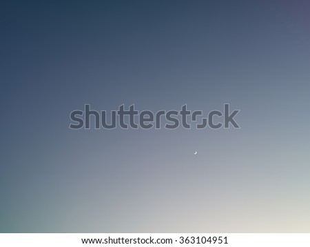 Background with moon  in clear night sky  - stock photo