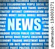 Background with News headline and tags on news topic. - stock photo