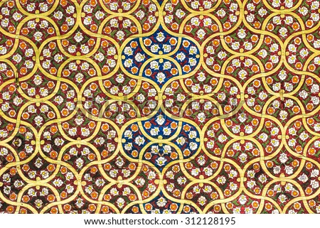 background with oriental ornaments - stock photo