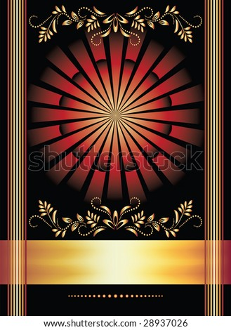 Background with ornament. These are raster versions of a vector which can be found in a portfolio.