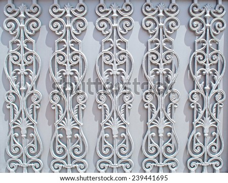 background with ornaments in iron - stock photo