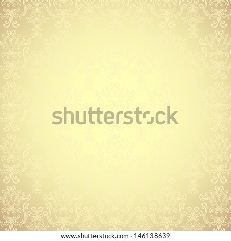 Background with pattern in Victorian style Gold  colors - stock photo
