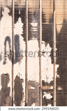 background with peeling wood texture - stock photo