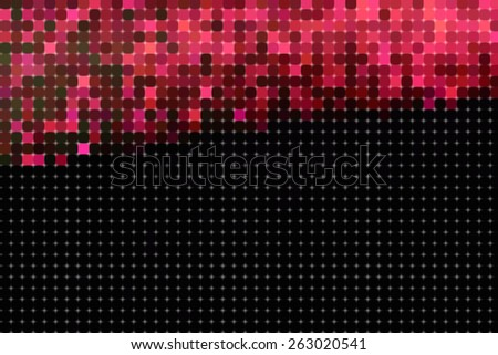 Background with red and black pixels