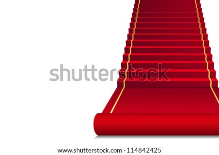 Background with red Carpet - stock photo