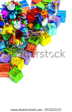 Background with ribbon gift box