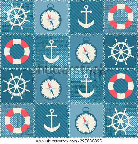 background with sea transport elements. Raster version - stock photo