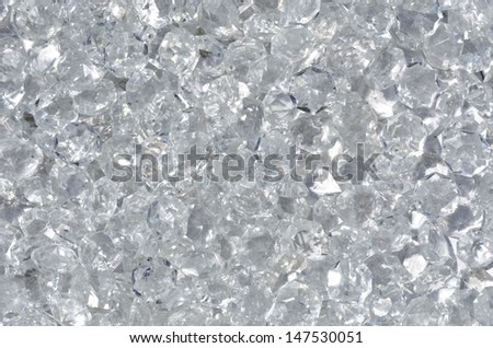 Background with shiny crystal glass beads - stock photo