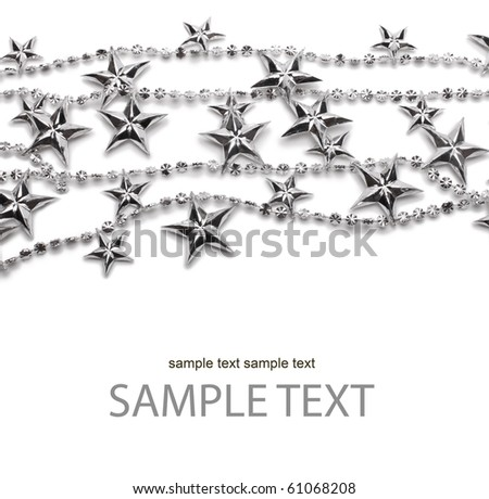 background with silver stars - stock photo