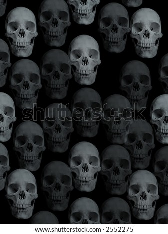 background with skulls - stock photo