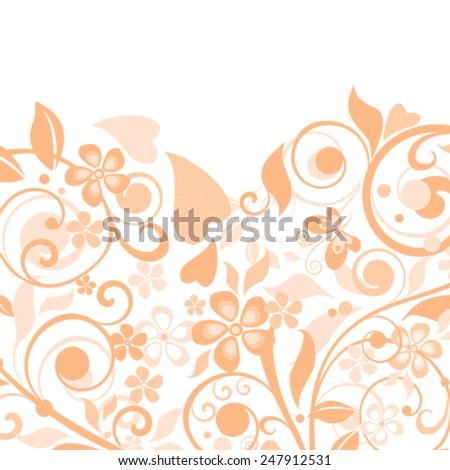 Background with slices of orange. - stock photo