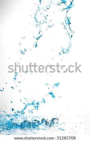 Background with splashing water.Water drop