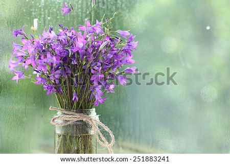 background with spring flowers, the concept of love, bouquet - stock photo