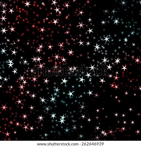 background with stars - stock photo