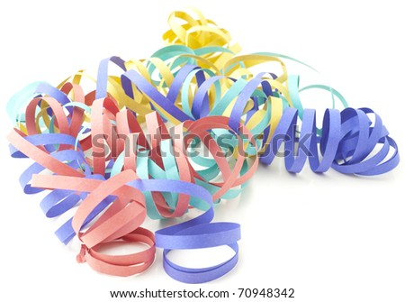 background with streamer and confetti - stock photo