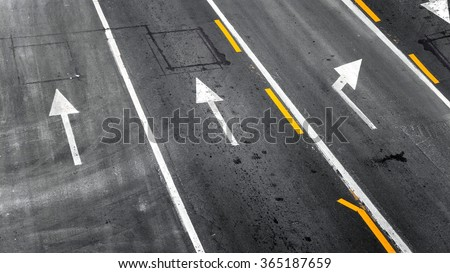 Background with tire marks on road closeup photo - stock photo