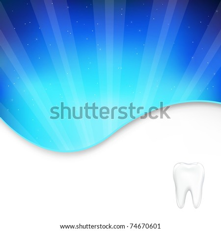 Background With Tooth And Beams - stock photo