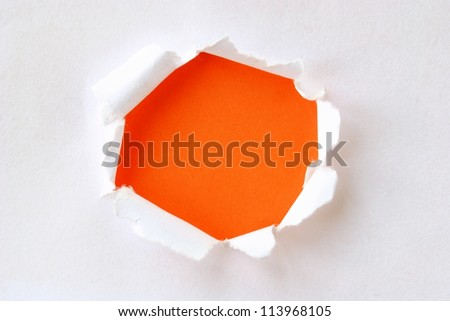 background with torn paper and place for your message - stock photo